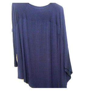 Roaman's Asymmetric Hem Tunic Top